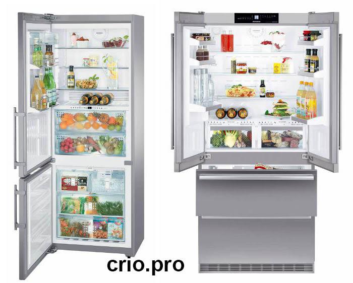 Вид изнутри холодильника
