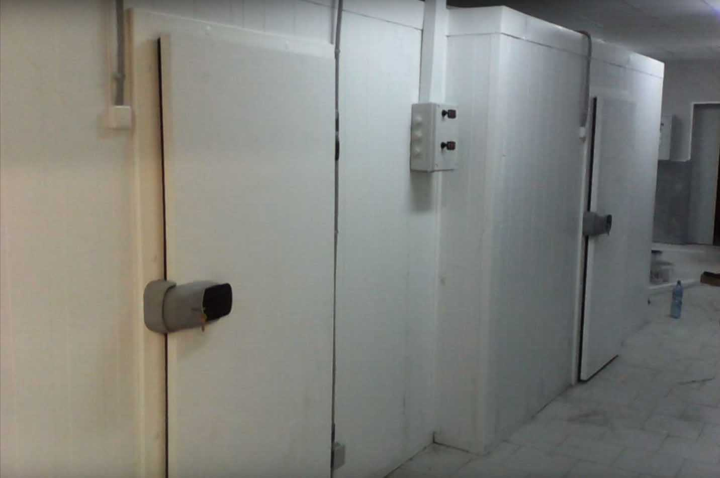Дверь для холодильной камеры.