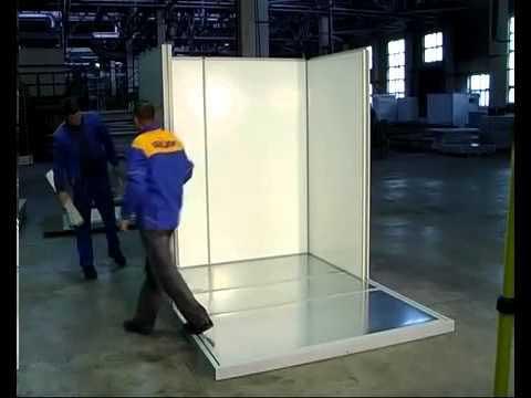 Процесс сборки холодильной камеры Полаир.