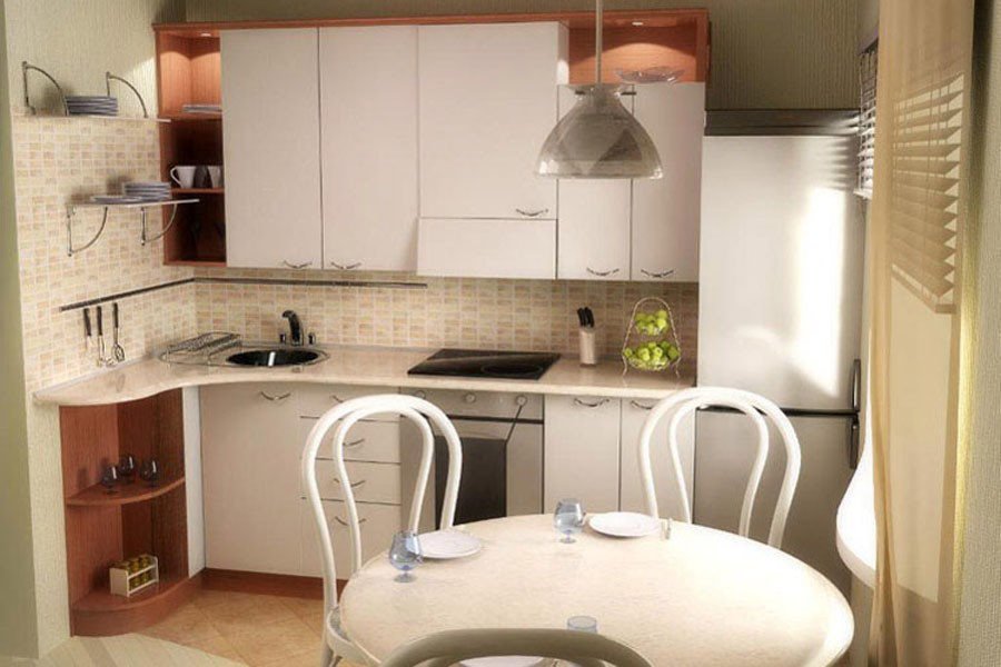 Кухня 6 квадратов дизайн хрущевка с колонкой