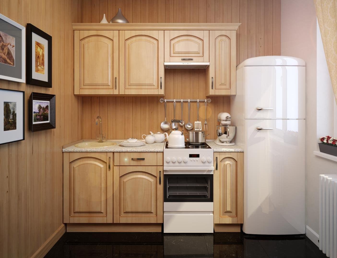 Холодильник на кухне 6 м.кв.