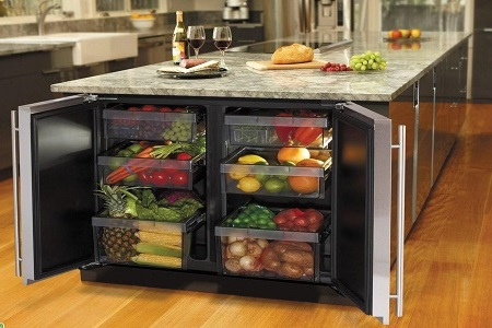 Встроенный холодильник в шкаф