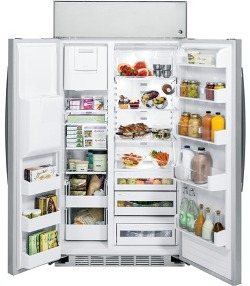 Двухдверный большой холодильник