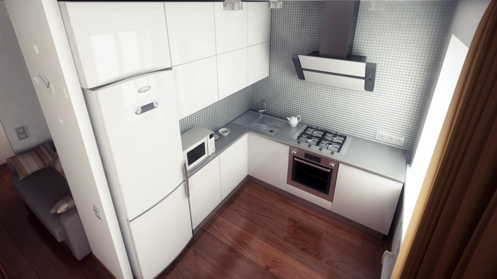 Встроить холодильник в кухню