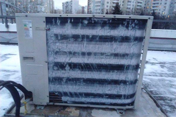 Обмерзание снаружи