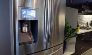 Двухдверный холодильник с ледогенератором