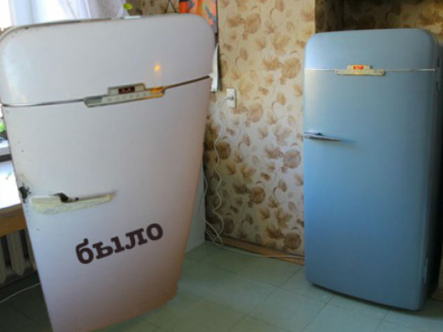 Красим холодильник